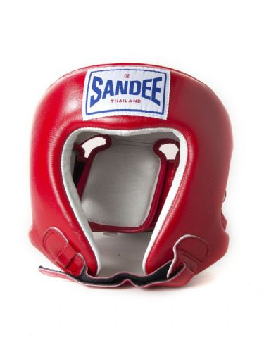 Sandee Kids Open Face Head Guard - Red